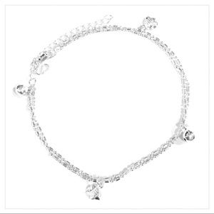 Jewelry - SILVER ANKLET or BRACELET / FISH & BELLS